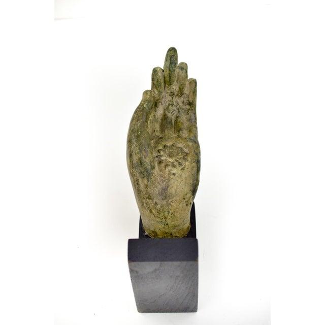 Antique Bronze Thai Buddha Hand Sculpture - Image 6 of 7