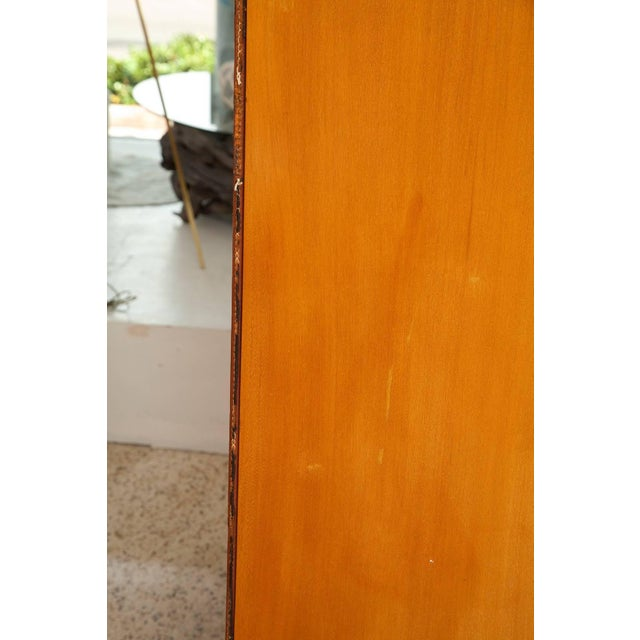 1950s 1950s Large Cherrywood and Leather Cabinet by Jacques Adnet For Sale - Image 5 of 13
