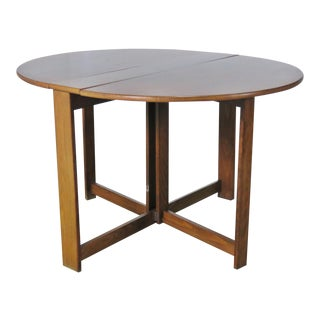 Mid-Century Modern Teak Drop Leaf Table For Sale