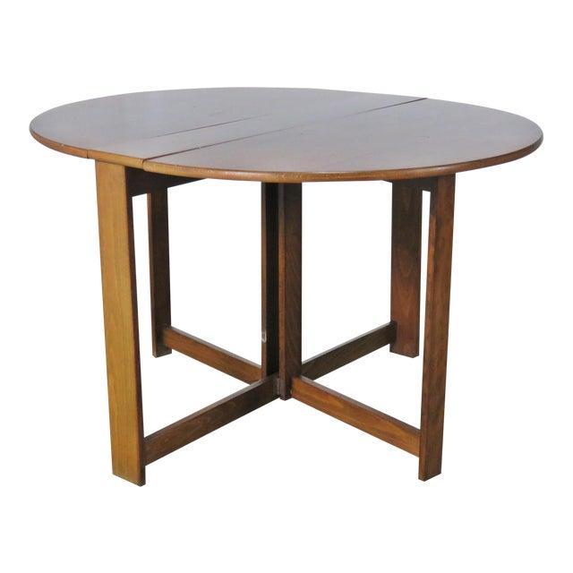 Mid-Century Modern Teak Drop Leaf Table For Sale