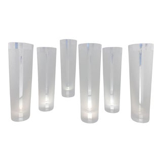 Vintage 1990s Rosenthal Studio Line Tall Drink Glasses - Set of 6 For Sale