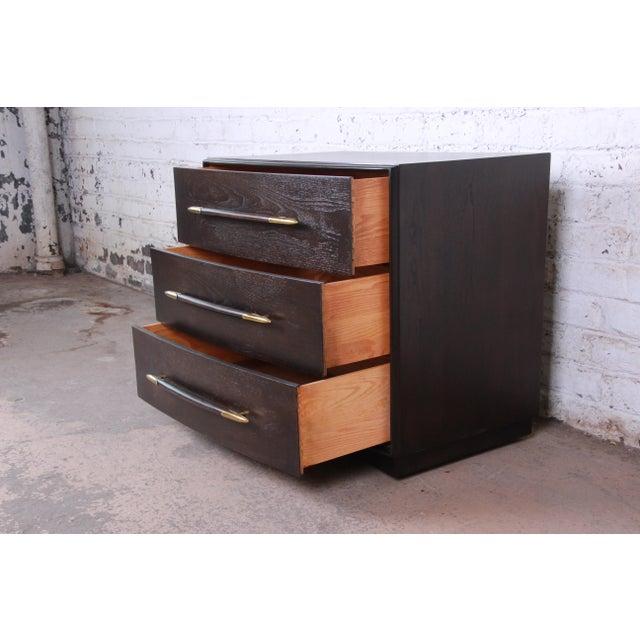Robsjohn-Gibbings for Widdicomb Mid-Century Modern Walnut Three-Drawer Bachelor Chest For Sale - Image 9 of 13