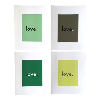 """""""Malachite"""" Contemporary Love Giclee Prints by Neicy Frey - Set of 4 For Sale"""