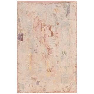 Vintage Paul Klee Scandinavian Modern Art Rug - 6′7″ × 8′7″ For Sale