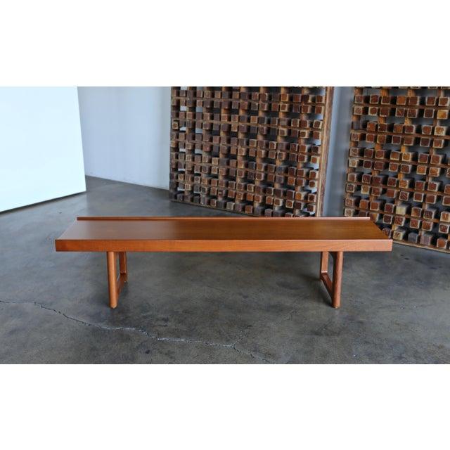 """1960s 1960s Vintage Teak """"Krobo'' Bench by Torbjørn Afdal for Bruksbo For Sale - Image 5 of 11"""