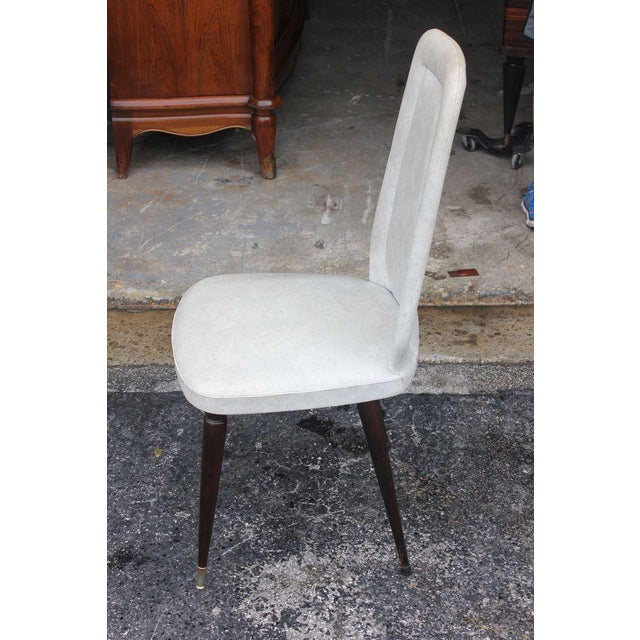 Suite of Six French Art Deco/Art Modern Solid Mahogany Dining Chairs. - Image 10 of 10