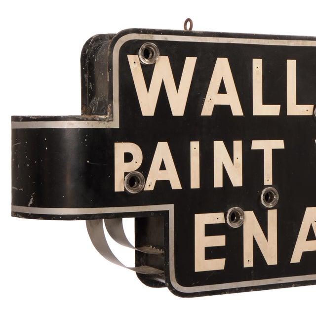 "Art Deco Art Deco ""Wallpaper, Paint, Varnish, Enamel"" Neon Sign For Sale - Image 3 of 10"