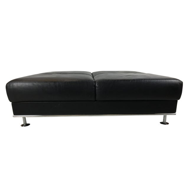 Huge Leather Ottoman by Matteograssi, Italy For Sale