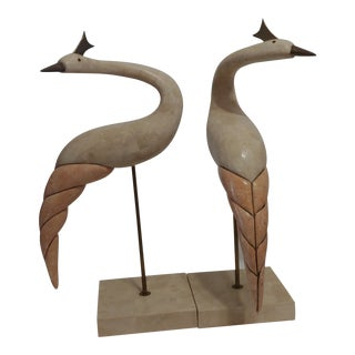 1970s Hollywood Regency Sculptures - a Pair For Sale