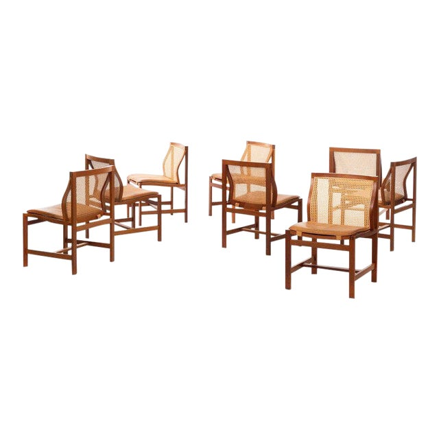 Rud Thygesen & Johnny Sorensen Set of 8 Dining Chairs For Sale