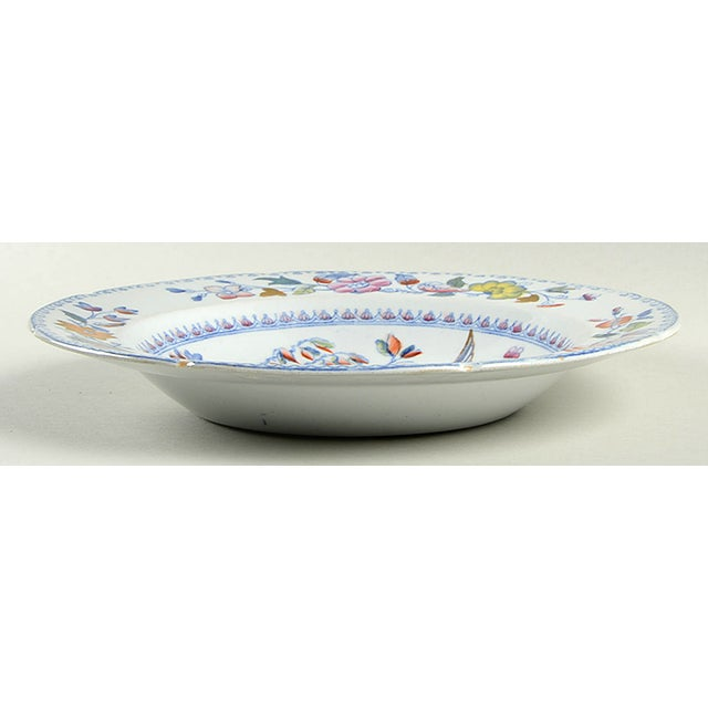 Mason's #MAS16 Large Rim Bowl S/6 features blue birds and flowers with multicolor accents, scalloped and luster edge....
