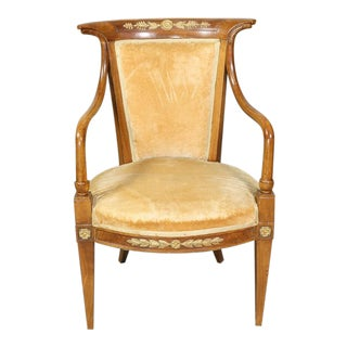 Pair of Italian Neoclassic Style Armchairs For Sale