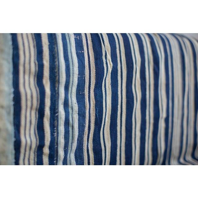 Vintage Hand Woven Indigo Stripe Throw - Image 3 of 7