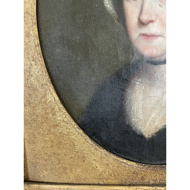 Late 18th Century English Portrait of a Lady Oil Painting Attributed to John Russell, Framed For Sale - Image 9 of 13