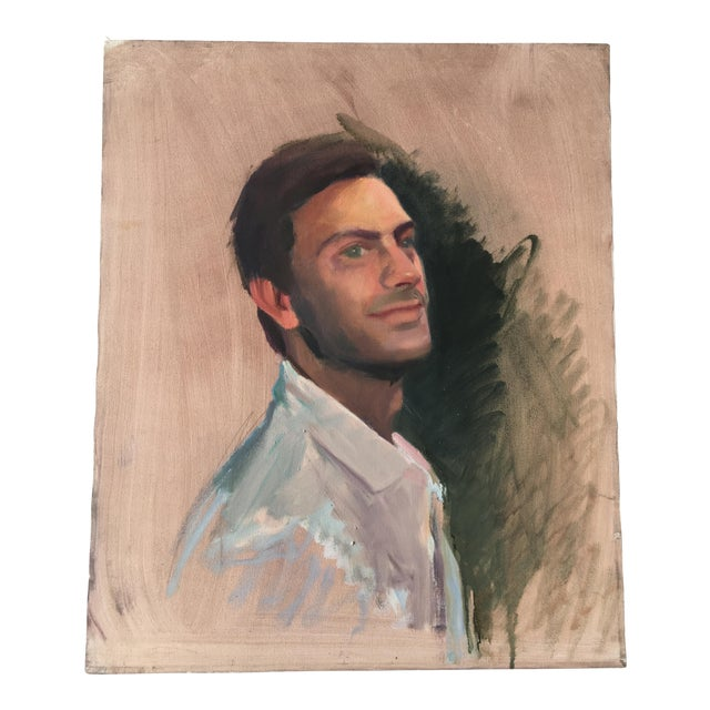 Vintage Oil Painting of a Man - Image 1 of 3