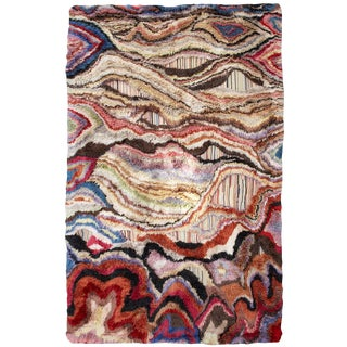 "Boccara Hand Knotted Artistic Rug - ""Amazonia"" For Sale"