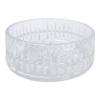 1980s Vintage Ceska Cut Crystal Bowl For Sale