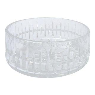"Vintage Cut Crystal Bowl 8-1/2"" Diameter by Ceska For Sale"