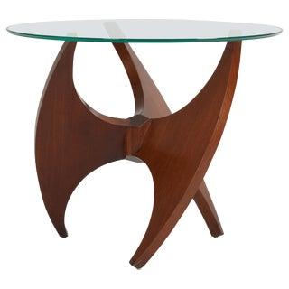 Sculptural Walnut Side Table, 1950s For Sale