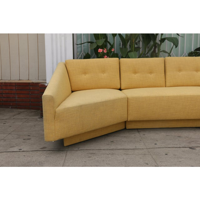 Mid-Century Modern Yellow Sectional Sofa For Sale - Image 3 of 11