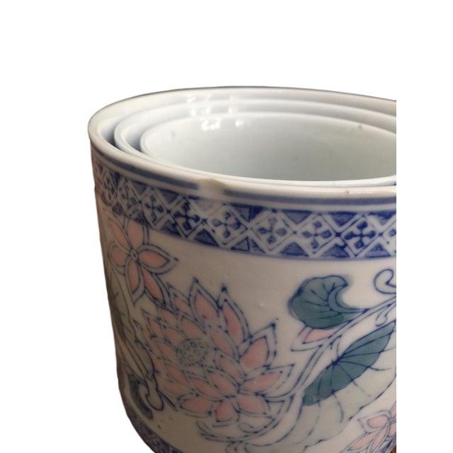 Antique Floral Pots - Set of 3 - Image 5 of 6