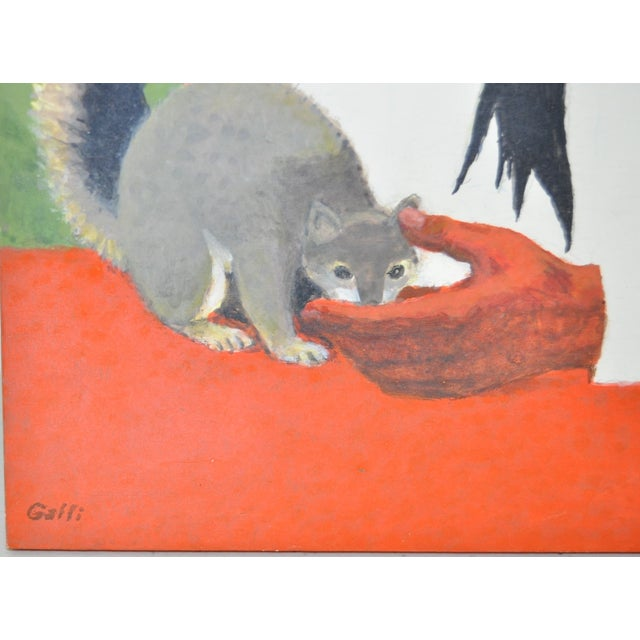 Mid-Century Modern Stanley Galli 'Mission Indian & Friend' Painting For Sale - Image 3 of 4