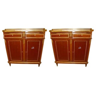 Maison Jansen Russian Neoclassical Style Cabinets - A Pair For Sale