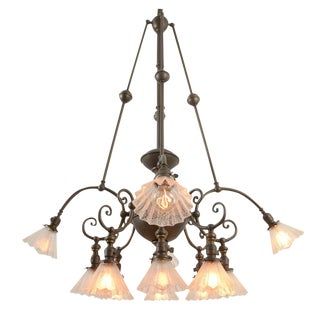 Rare and Remarkable 12-light Commercial Chandelier Circa 1905