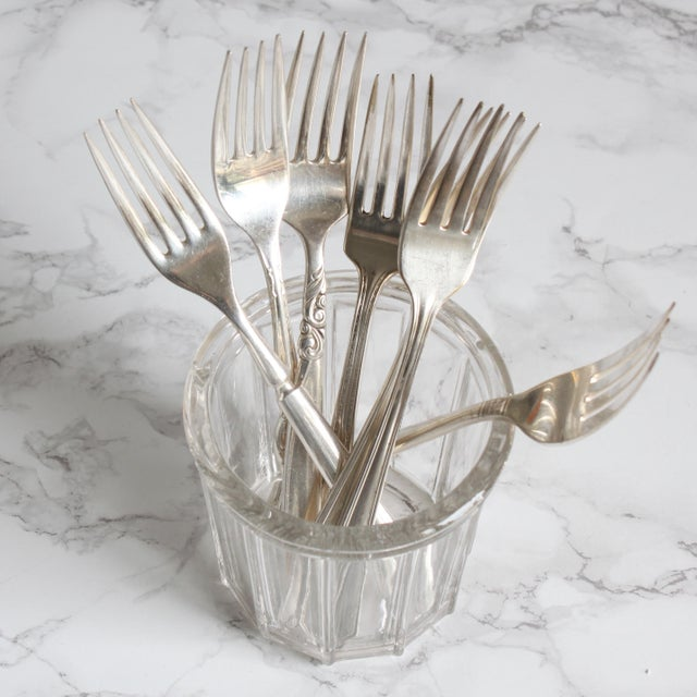 Vintage Silverplate Dinner Forks - Set of 8 - Image 4 of 7