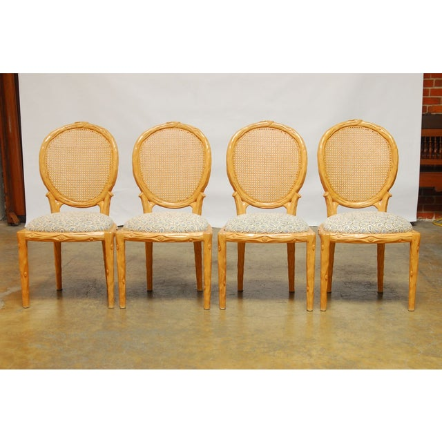 Vintage Italian Faux Bois Dining Chairs - Set of 4 - Image 2 of 8