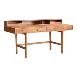 Peter Løvig Nielsen / Jens Quistgaard Flip-Top Desk in Teak for Løvig Dansk For Sale