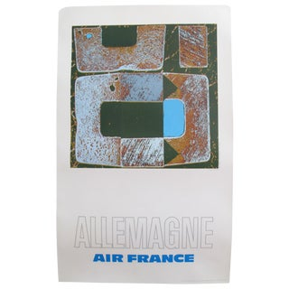 1971 Air France Poster, Allemagne (Germany)