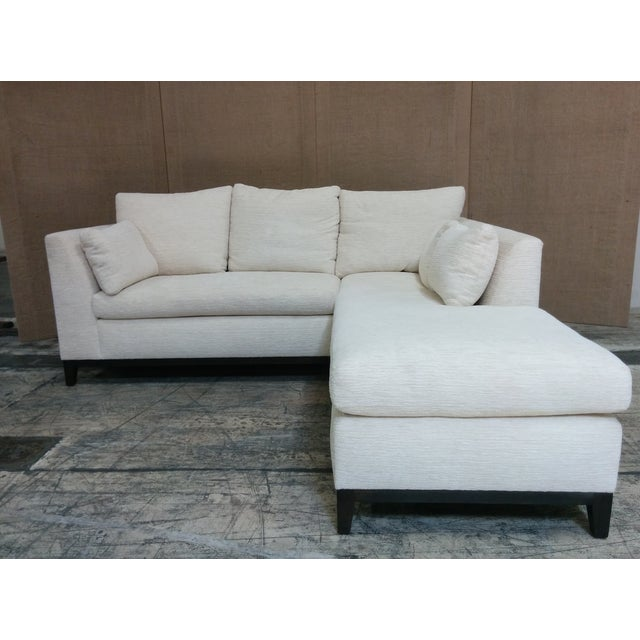 Custom Contemporary Sectional Sofa Off-White - Image 2 of 4