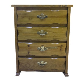 Antique Pine Dresser with Brass Pulls