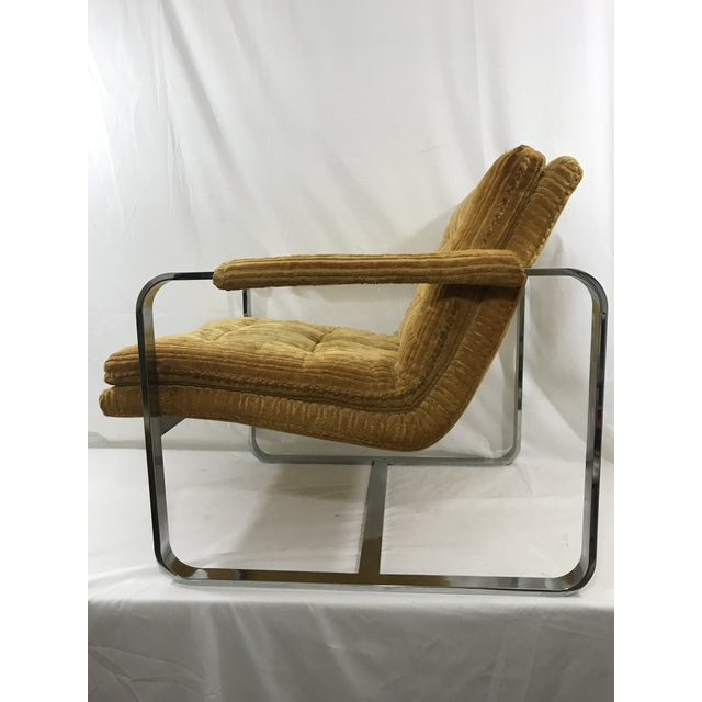 Modern Milo Baughman Arm Chair For Sale - Image 3 of 9