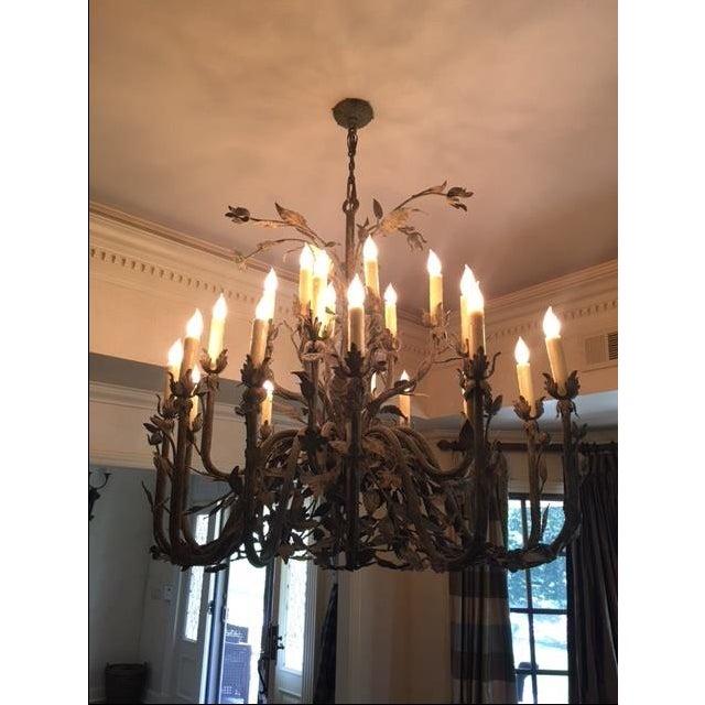 24-Light Decorative Ironwork Chandelier - Image 2 of 4
