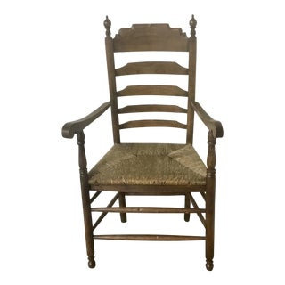 Early 20th Century Antique Ladder Back Armchair For Sale
