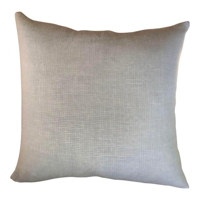 Pale Blue Cotton Pillows - a Pair - Image 1 of 5