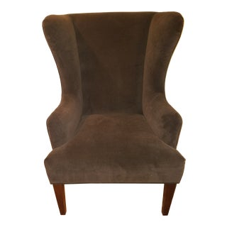 Baker Modern Wingback Chair For Sale