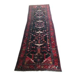 1950s Vintage Heriz Persian Area Rug - 4″ × 11′ For Sale