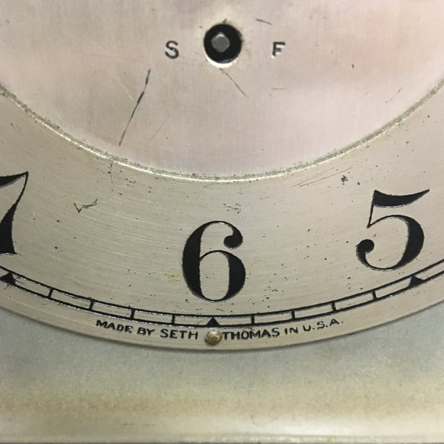 1910s Antique 1910s Seth Thomas Clock Company Wooden Clock For Sale - Image 5 of 13