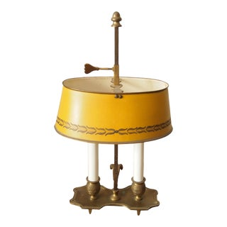Italian Brass and Tole Bouillotte Lamp For Sale