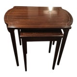 Image of Mahogany Nesting Tables - A Pair For Sale