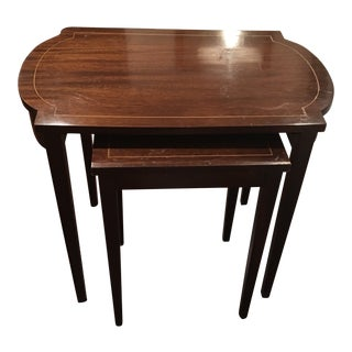 Mahogany Nesting Tables - A Pair
