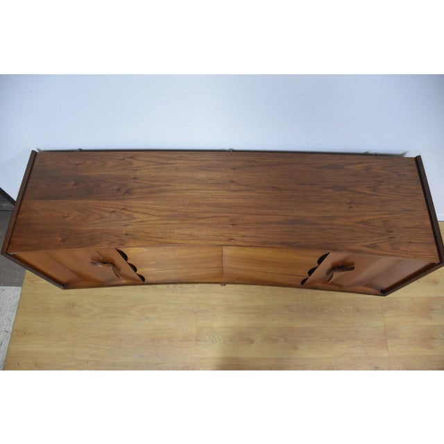 Mid-Century Sculpted Walnut Dresser - Image 7 of 11