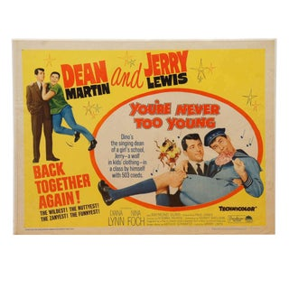 """Dean Martin and Jerry Lewis, 1955 Movie Poster for """"You're Never Too Young"""" For Sale"""