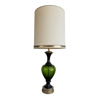 Marbro Turned Glass Table Lamp For Sale