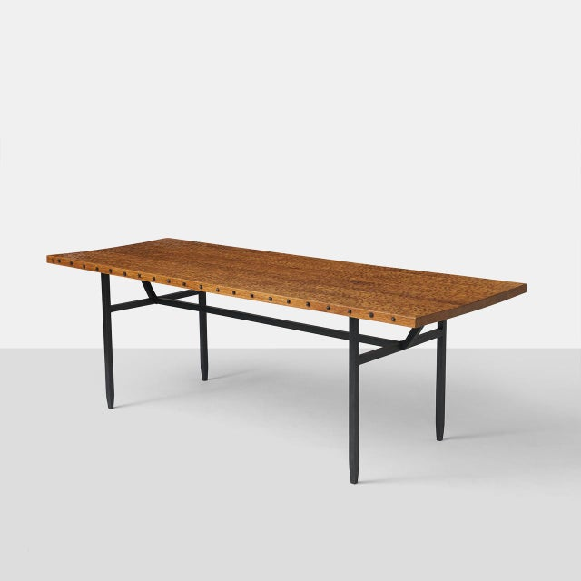 Metal Jean Touret Dining Table for Atelier Marolles For Sale - Image 7 of 7