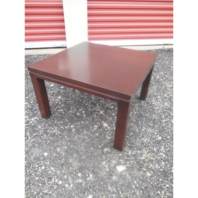 Mid-Century Modern Mid-Century Modern Henredon Parquet Wood Floating Top Dark Expresso Coffee Table For Sale - Image 3 of 7
