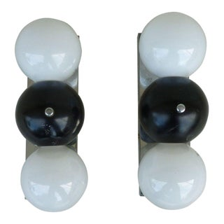1970s Modern Space Age Three Ball Sconces - a Pair For Sale